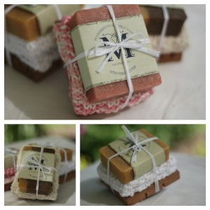 small gift set collage
