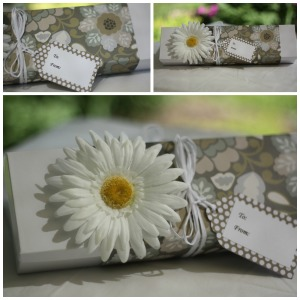 white gift box collage